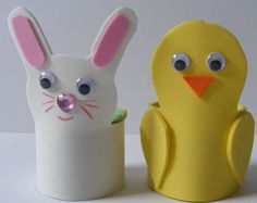 Foam egg cups - so cute!