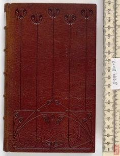 Guild of Women Binders, English 20c Full goatskin leather binding with blind and gold tooling. Poems Descriptive of Rural Life and Scenery John Poet Clare Stamford,