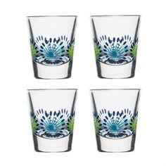 De søte Fantasy-glassene i small er designet av Hanna Werning for varemerket Sagaform. Glassene har en enkel form med et herlig fargerikt mønster som minner om eksotiske blomster. Bruk glassene som drammeglass, eggeglass eller hvorfor ikke som dekorative minivaser til blomster