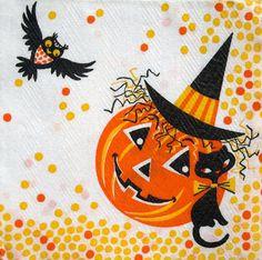 vintage Halloween napkin