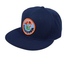 California Poppy - Navy Blue Snapback