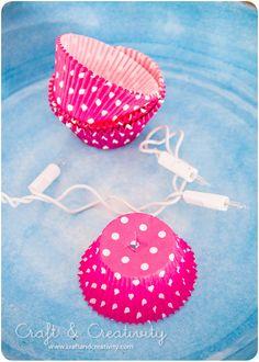 Kalasfin ljusslinga – Cupcake liner lights