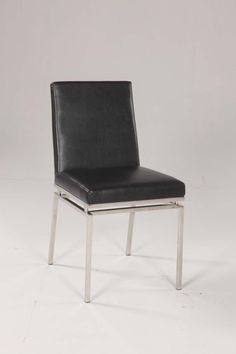 Chintaly Imports Tyler Contemporary Black Side Chair Set