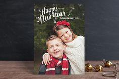 Merry Scriptmas Holiday Postcards by Rebecca Turner at minted.com