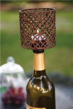 """IMGBCS 3.25"""" x 3.25"""" x 4.25"""" The Vintner's Cottage Glass Bottle Candle Shade                                                         vineyard decor"""