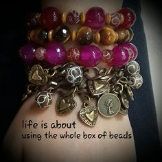 life is about using the whole box of beads. www.facebook.com/moniliaccessories