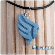 Mass Effect Game Paragon Tiny Polymer Clay Charm by BlindLeviathan, $8.00