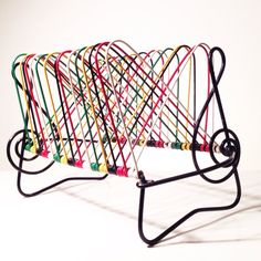 Porta vinilos de alambre plastificado