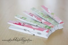 Decorated Clothespins - for menu board