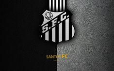 Download wallpapers Santos FC, 4K, Brazilian football club, Brazilian Serie A, leather texture, emblem, logo, Santos, Sao Paulo, Brazil, football