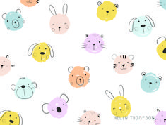 Baby animal polka dot pattern designed by Helen Thompson. the global community for designers and creative professionals. Helen Thompson, Kids Prints, Baby Animals, Pattern Design, Print Patterns, Polka Dots, Creative, Baby Pets, Polka Dot