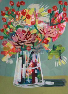 Illustrations, Illustration Art, Muse Art, Arte Floral, Abstract Flowers, Flower Art, Art Flowers, Art Sketchbook, Unique Art