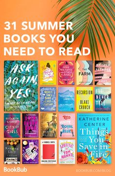 31 summer books you need to read! 31 summer books you need to read! Summer Books, Summer Reading Lists, Beach Reading, Good Romance Books, Great Books To Read, Good Fiction Books, Romance Novels, Good Book Club Books, Best Books