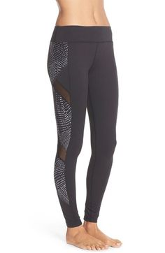 Beyond Yoga 'Spliced and Diced' Mesh Inset Leggings available at #Nordstrom