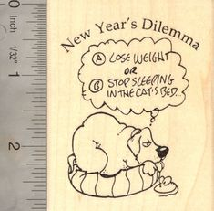 New Years Dog Rubber Stamp Resolution *** Read more reviews of the product by visiting the link on the image.-It is an affiliate link to Amazon.