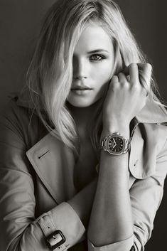Shot by Mario Testino, actress Gabriella Wilde models the Burberry Britain. Gabriella Wilde, Mario Testino, Burberry Watch, Chanel Watch, Watches Photography, Fashion Photography, Modeling Photography, People Photography, Creative Photography