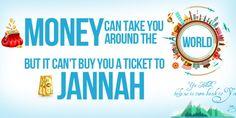 Money can take you around the World | PureIslamicDesigns.com