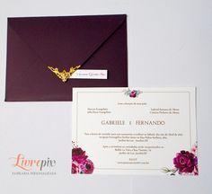 Convite Clássico Marsala - Livrepix Design e Personalização