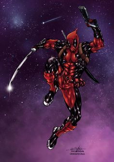 #Deadpool #Fan #Art. (Deadpool Colors) By: CrisstianoCruz. ÅWESOMENESS!!!™ ÅÅÅ+