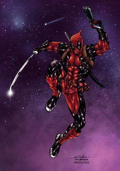 #Deadpool #Fan #Art. (Deadpool Colors) By: CrisstianoCruz. ÅWESOMENESS!!!™ ÅÅÅ+