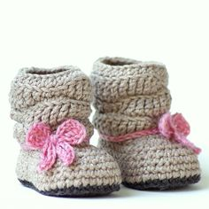 Crochet Pattern 217 Baby Slouch Boot Mia door TwoGirlsPatterns