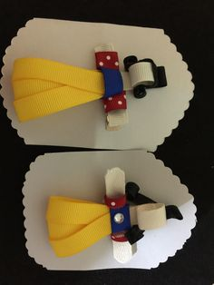 Snow White hair clip. Check it out at Moondy Design on face book.