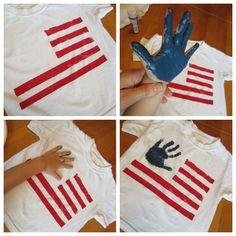 Fourth of july tshirt craft so cute!
