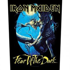 If heavy metal band Iron Maiden's ninth studio album Fear Of The Dark features amongst your favourite music, share your love for it as you wear this awesome backpatch featuring cover art for the album. Iron Maiden, Metal Music Bands, Heavy Metal Bands, Judas Priest, Raven Skull, Fear Of The Dark, Patches, Coupon Design, Rock Music