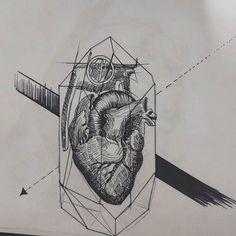 ✖ If a had a heart... . . ✖ #blackwork #blackworkbrasil #tattoodesigns #tattoo2me #tattooinspiration #wip #fineliner  #sketch  #tattoosketch #heart #granade #drawing #blacktattoo #ailtonalmeidaz
