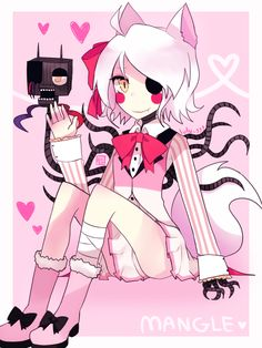 (open RP, I'm Mangle) I sit in my hole in the ceiling, gazing at foxy. I don't notice you come up from under me and ask what I'm doing