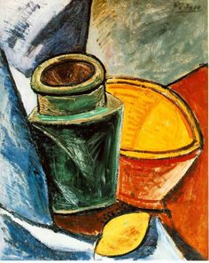 Still life with lemons by Pablo Picasso Size: 62x48 cm