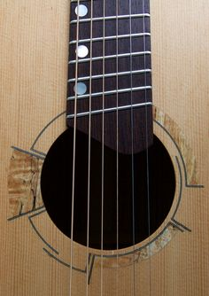 Soderlund Guitars short multiscale, medium-bodied acoustic in zebrano and douglas fir. Unique Guitars, Custom Guitars, All Music Instruments, Guitar Building, Beautiful Guitars, Douglas Fir, Acoustic Guitars, Ukulele, Bass