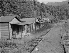row of houses at Exeter Mine in Welch, McDowell County, WV