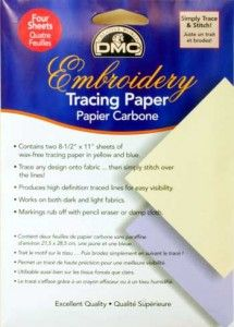 Embroidery tracing paper