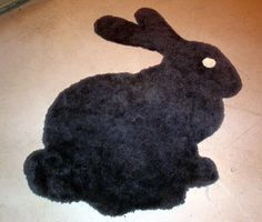 easy bunny rug out of leftover carpet