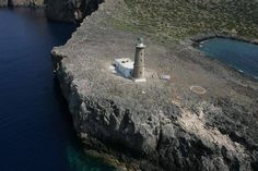 The Lantern of Kythira  The lighthouse is located in cape Spathi. Constructed in 1857 by the British is one of the largest in Greece with a height of 25 meters. The view from the lighthouse is wonderful