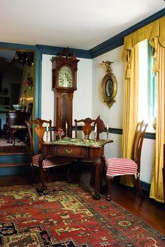 Home Interior Design, Interior Decorating, Early American Homes, Colonial Home Decor, Georgian Interiors, American Interior, Mid Century House, Elegant Homes, Victorian Homes