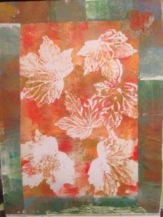 Sally C Johnson I made this with leaves pressed into the paint and the frame is scrap from cleaning my brayer! Love it!