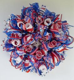 Patriotic 4th of July Premium Wide Foil Deco by WredWrockWreaths, $115.00