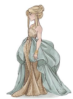 man, drawing pretty dresses is borderline therapeutic Based on this dress
