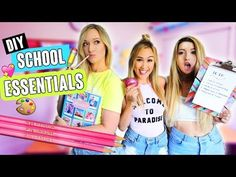 MUST HAVE DIYS FOR BACK TO SCHOOL 2017 - YouTube