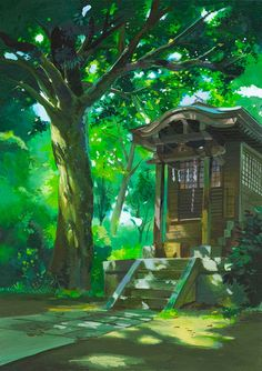 Whisper of the Heart, Hiiragi Aoi Studio Ghibli Background Drawing Studio Ghibli Background, Background Drawing, Animation Background, Heart Background, Environment Concept Art, Environment Design, Fantasy Landscape, Landscape Art, Graphisches Design