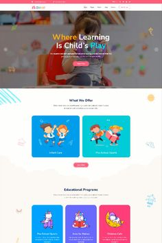 This WordPress theme is well made for parents, kids, and children. Describe your school classes, faculty, facilities, courses, teachers, events, academic systems, and other activities. Using this best kids & children education theme you can show your creativity in educating preschool children, kids care, kids school website, children website template, kids courses, kids learning app. Kids Learning Apps, Wordpress Theme Design, Web Design Services, Educational Programs, Kids Education, Kids Playing, Children, Early Education, Young Children
