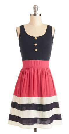 Navy blue stripes & a pop of pink? i'm in love!