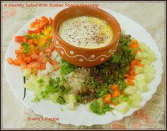 A Healthy Salad With Sumac Yogurt Dressing#Improv - Sneha's Recipe