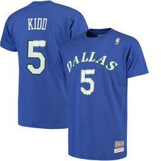 Jason Kidd Dallas Mavericks Mitchell & Ness Name and Number T-Shirt - Royal