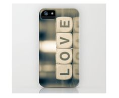 iPhone 5 Case, iPhone 5, Iphone 4,accessory iphone,geek, love,black and white, lettering, love photography. $40.00, via Etsy.