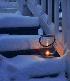 Lantern in snow Winter Love, Winter Day, Winter Season, Winter Christmas, Winter Scenery, Winter Magic, Snowy Day, Snow Scenes, Winter Pictures