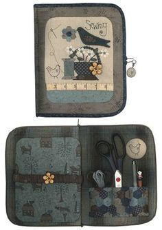 Patchwork sewing kit - sandpaper one side of board, fabric on the other