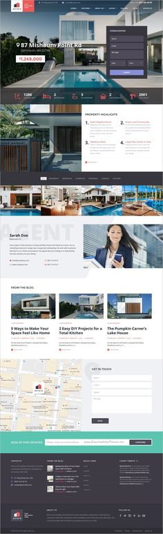 Estate is a stylish 3 in 1 #HTML template crafted for #webdesign #realestate agent or broker and property rental/sales agencies website download now➩ https://themeforest.net/item/estate-property-sales-rental-site-template/18442626?ref=Datasata